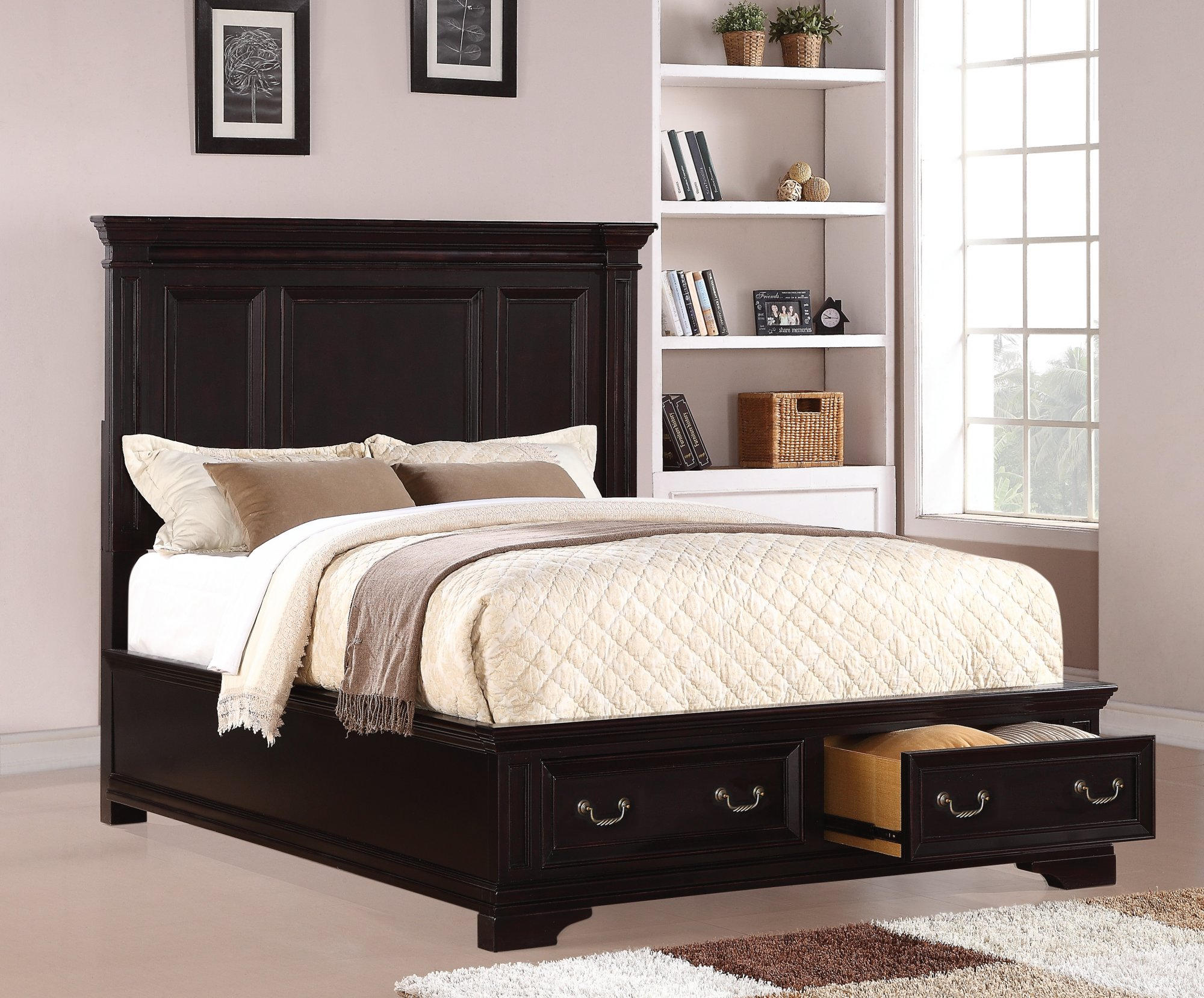 Flexsteel Camberly  Queen Panel Bed with Storage