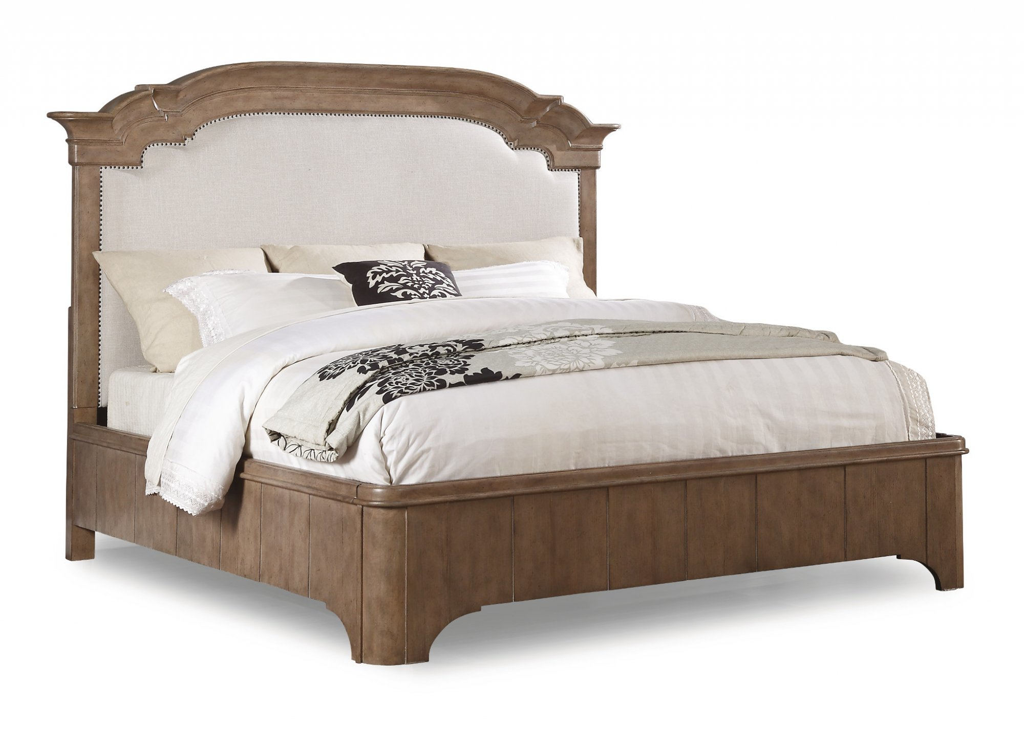 Model: W1046-90Q | Flexsteel Carmen  Queen Upholstered Bed