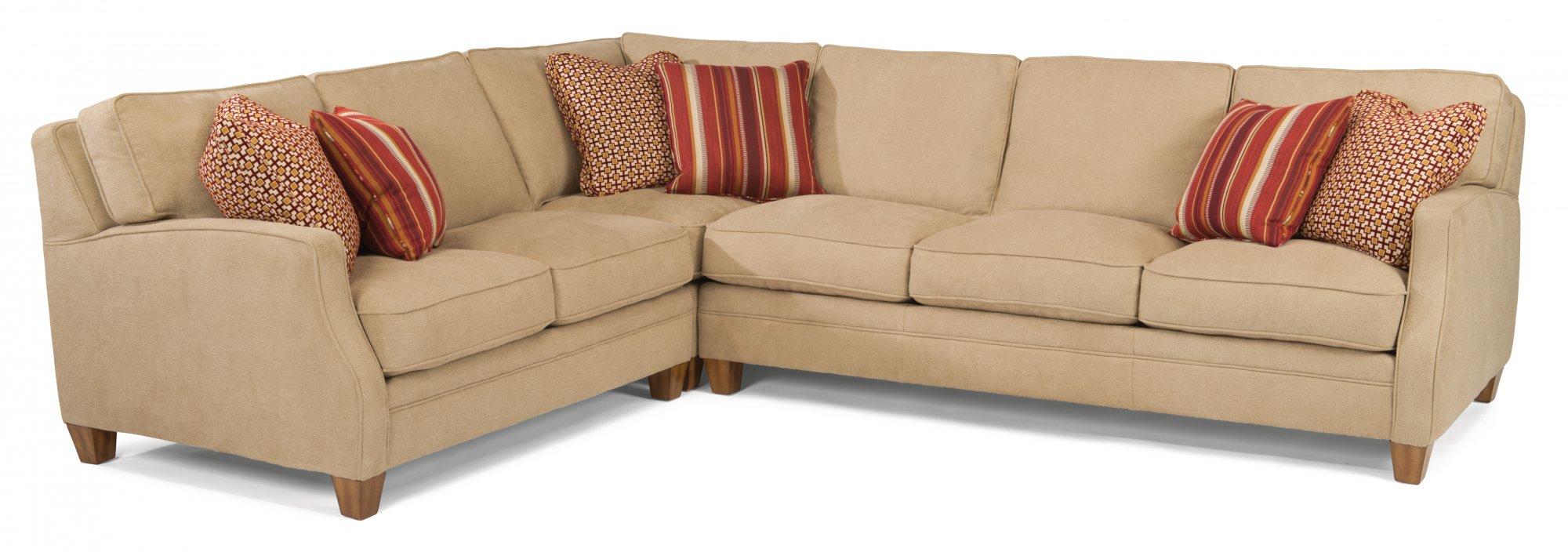 Model: 7564-Sect | Flexsteel Lennox  Fabric Sectional