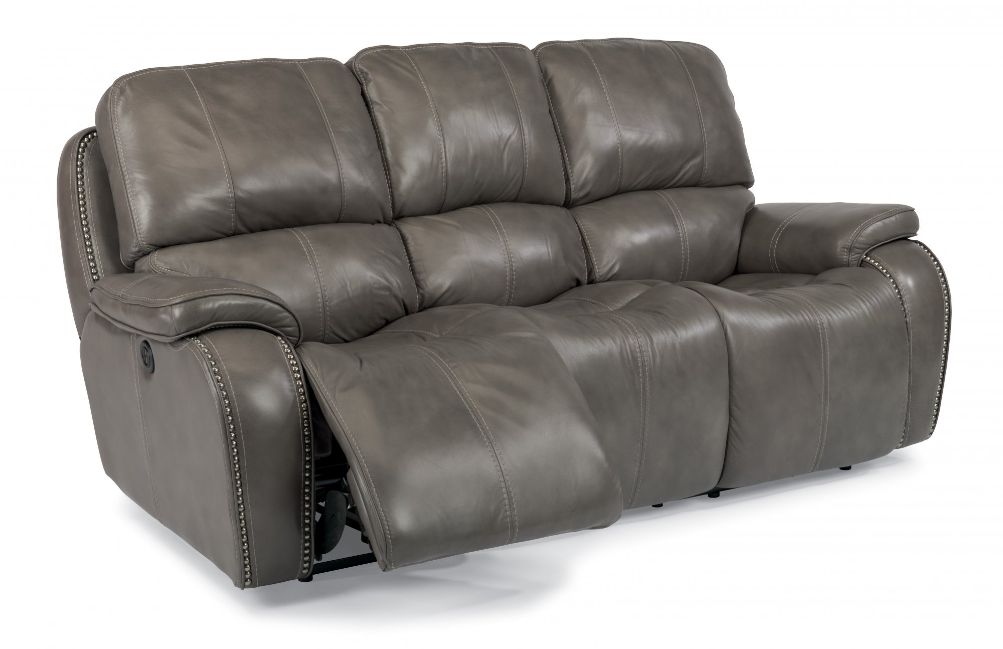 Model: 1617-62P | Flexsteel MacKay  Leather Power Reclining Sofa