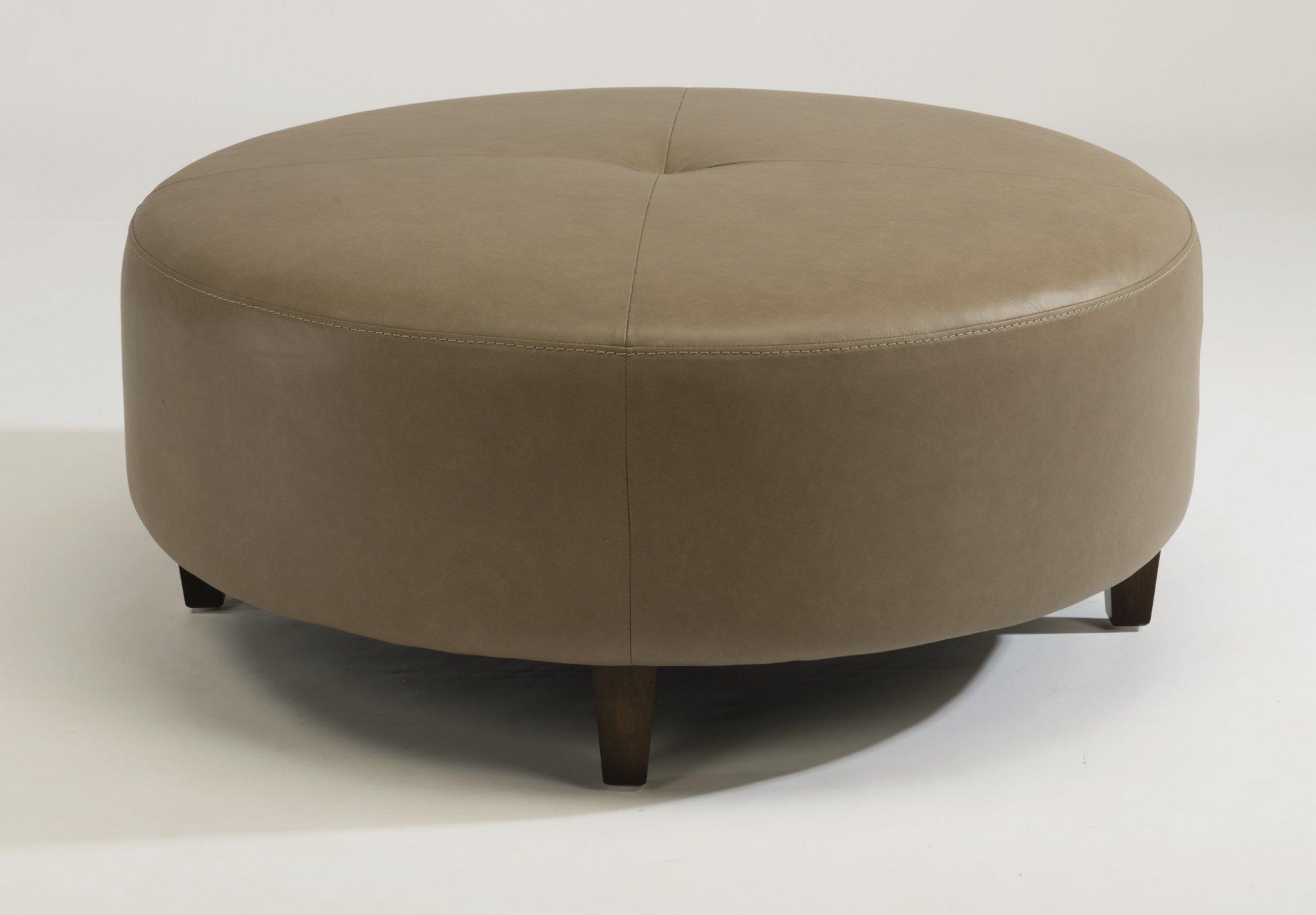 Awesome Flexsteel 1337 094 Wyman Leather Cocktail Ottoman Creativecarmelina Interior Chair Design Creativecarmelinacom