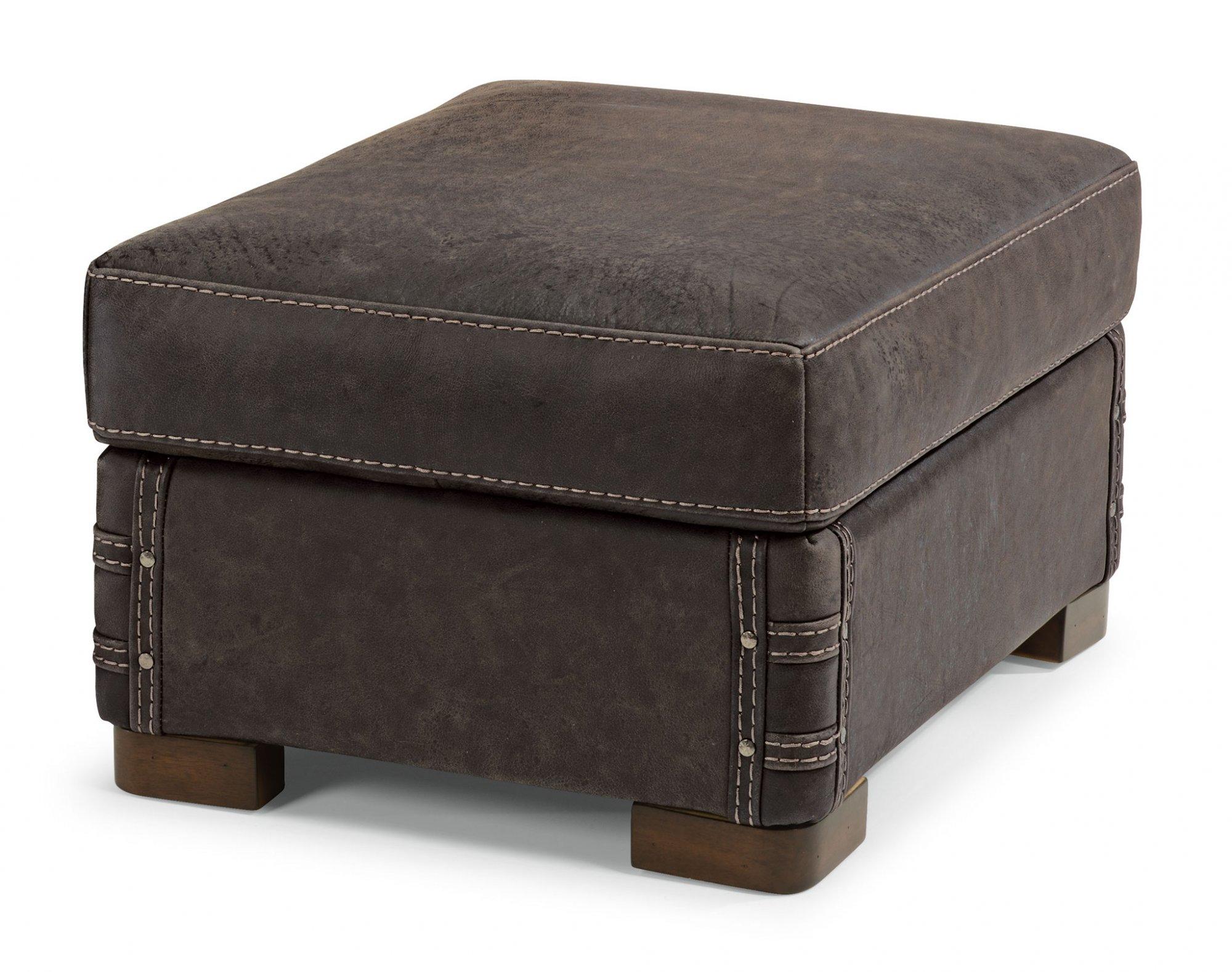 Stupendous Flexsteel 1131 08 Lomax Leather Ottoman Highway Unemploymentrelief Wooden Chair Designs For Living Room Unemploymentrelieforg