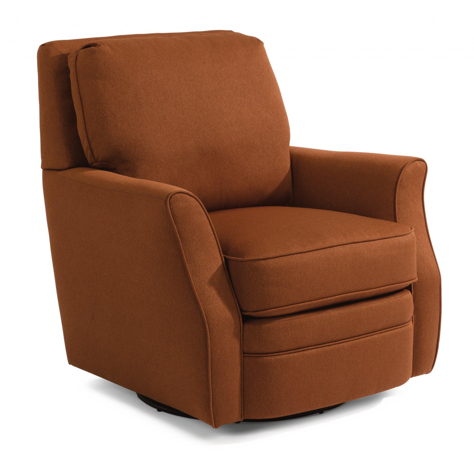 Model: 0125-11 | Flexsteel Brynn  Fabric Swivel Chair