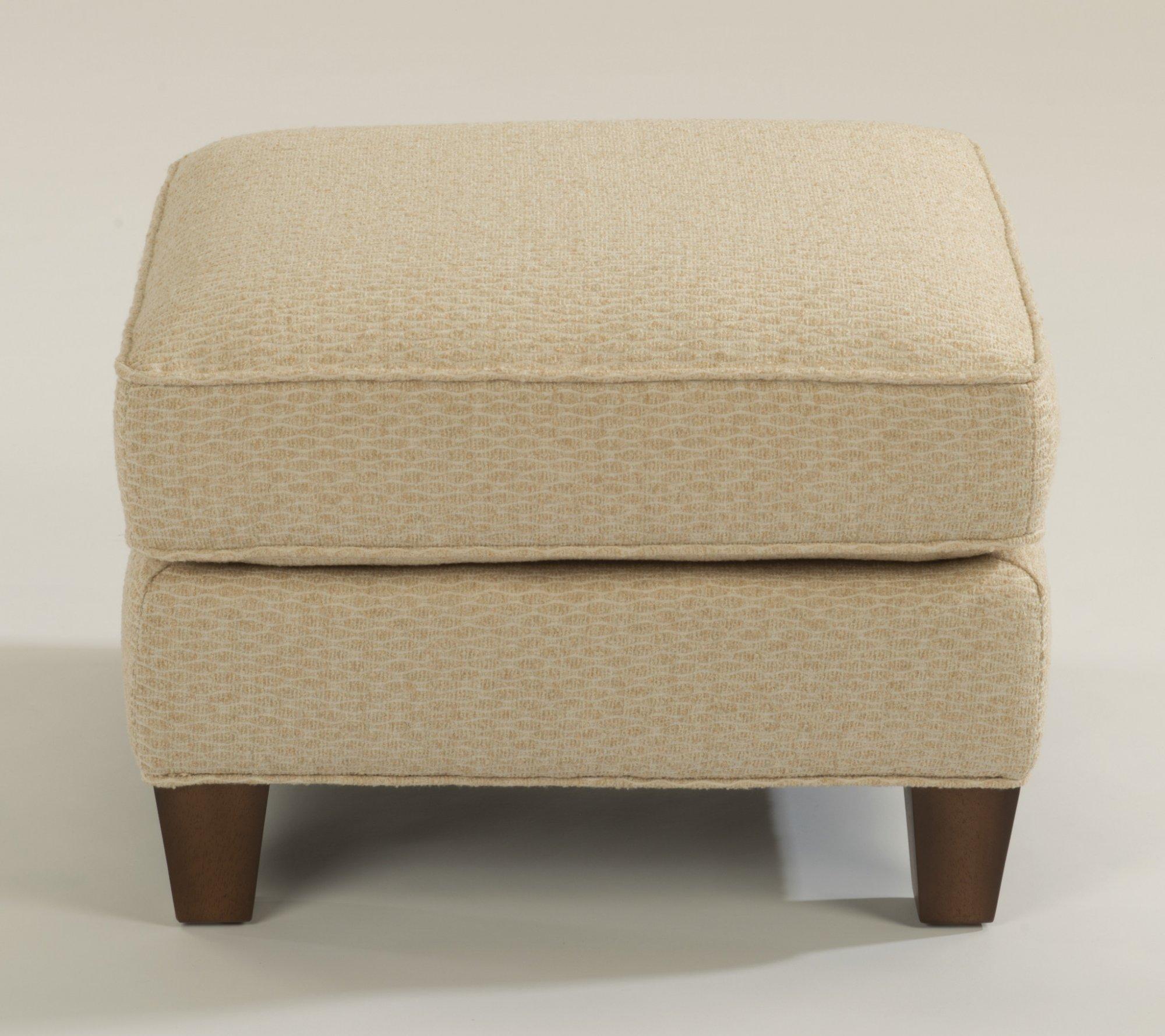 Model: 0124-08 | Flexsteel Allison  Fabric Ottoman