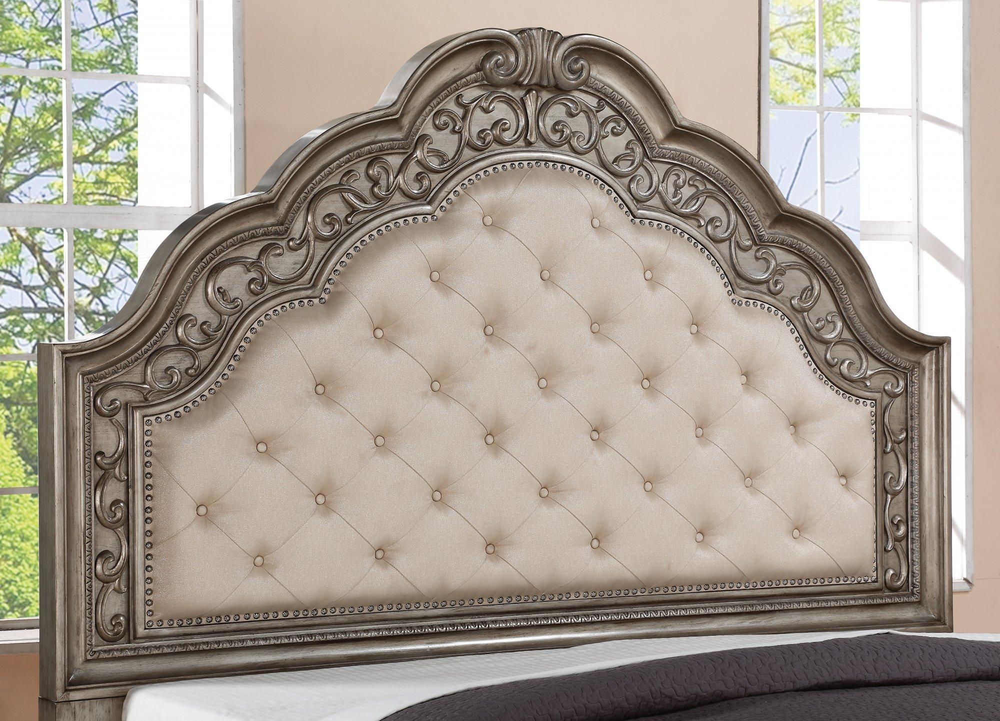 Model: W1957-90Q | Flexsteel San Cristobal  Queen Upholstered Bed