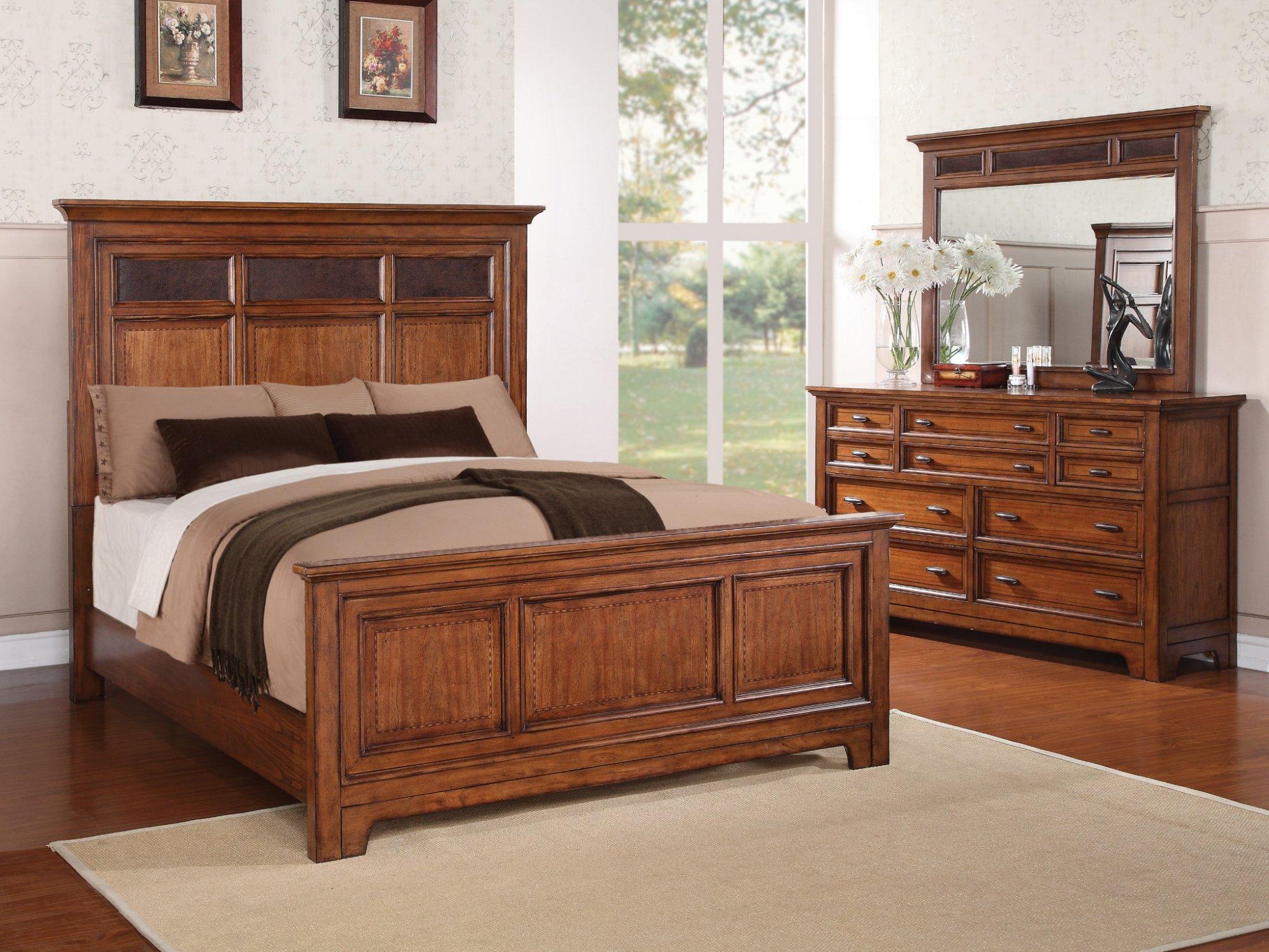 Model: W1572-90Q | Flexsteel River Valley  Queen Panel Bed