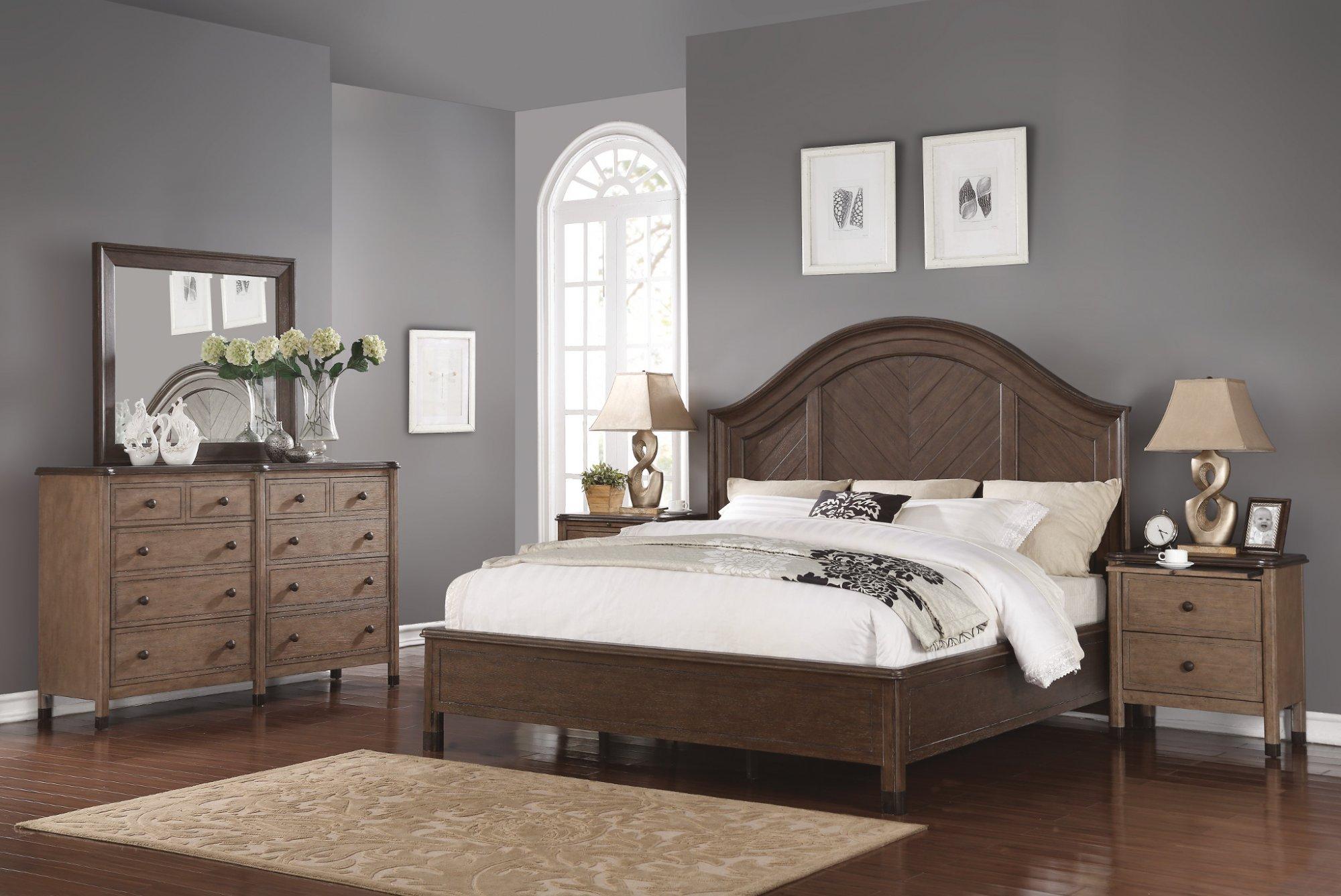 Model: W1046-91Q | Flexsteel Carmen  Queen Bed
