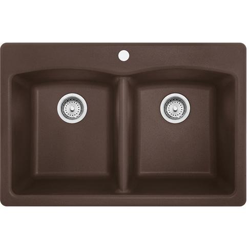 Franke Ellipse EDDB33229-1 Fragranite Dark Brown