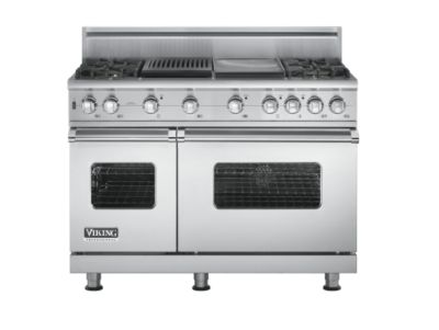 "Viking 48"" Sealed Burner Self-Cleaning Gas Range - VGSC"