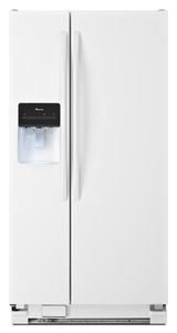 32-inch Wide Amana Side-by-Side Refrigerator with Adjustable Door Bins -- 21 cu. ft. Capacity