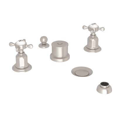 ROHL Perrin & Rowe® Edwardian Five-Hole Bidet Faucet With Lever Or Cross Handles