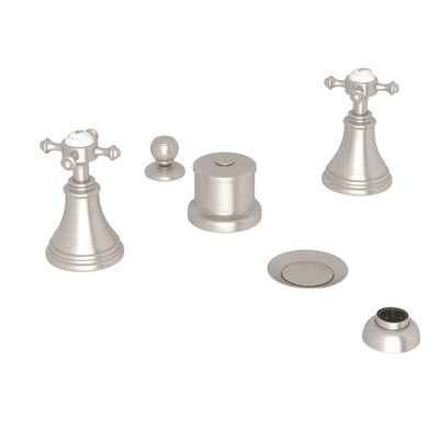 ROHL Perrin & Rowe® Georgian Era Five-Hole Bidet Faucet With Lever Or Cross Handles