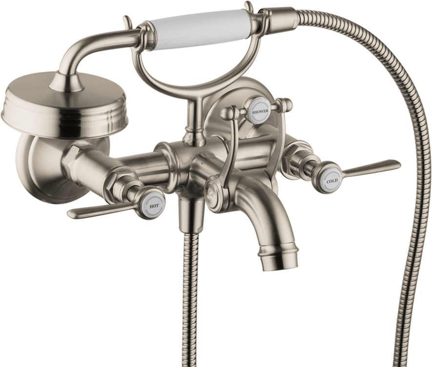 Axor AXOR Montreux Wall-Mounted Tub Filler with Lever Handles with 1.8 GPM Handshower