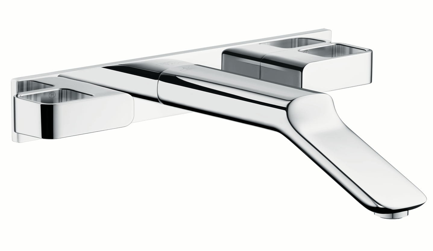 Axor AXOR Urquiola Wall-Mounted Widespread Faucet Trim with Base Plate, 1.2 GPM