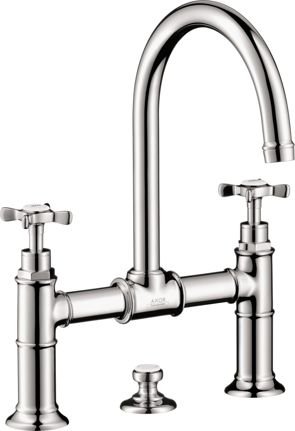 Axor AXOR Montreux Widespread Faucet with Cross Handles, Bridge Model, 1.2 GPM