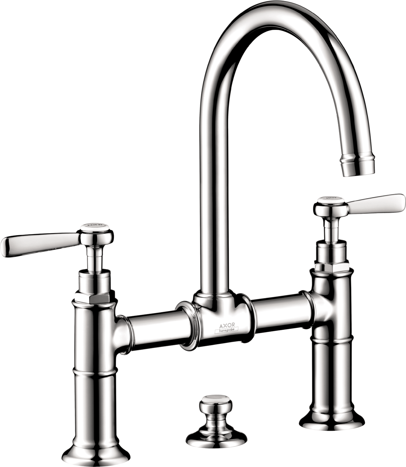 Axor AXOR Montreux Widespread Faucet with Lever Handles, Bridge Model, 1.2 GPM