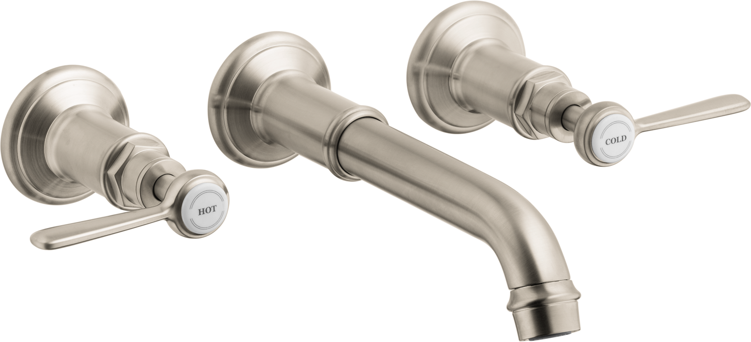 Axor AXOR Montreux Wall-Mounted Widespread Faucet Trim with Lever Handles, 1.2 GPM