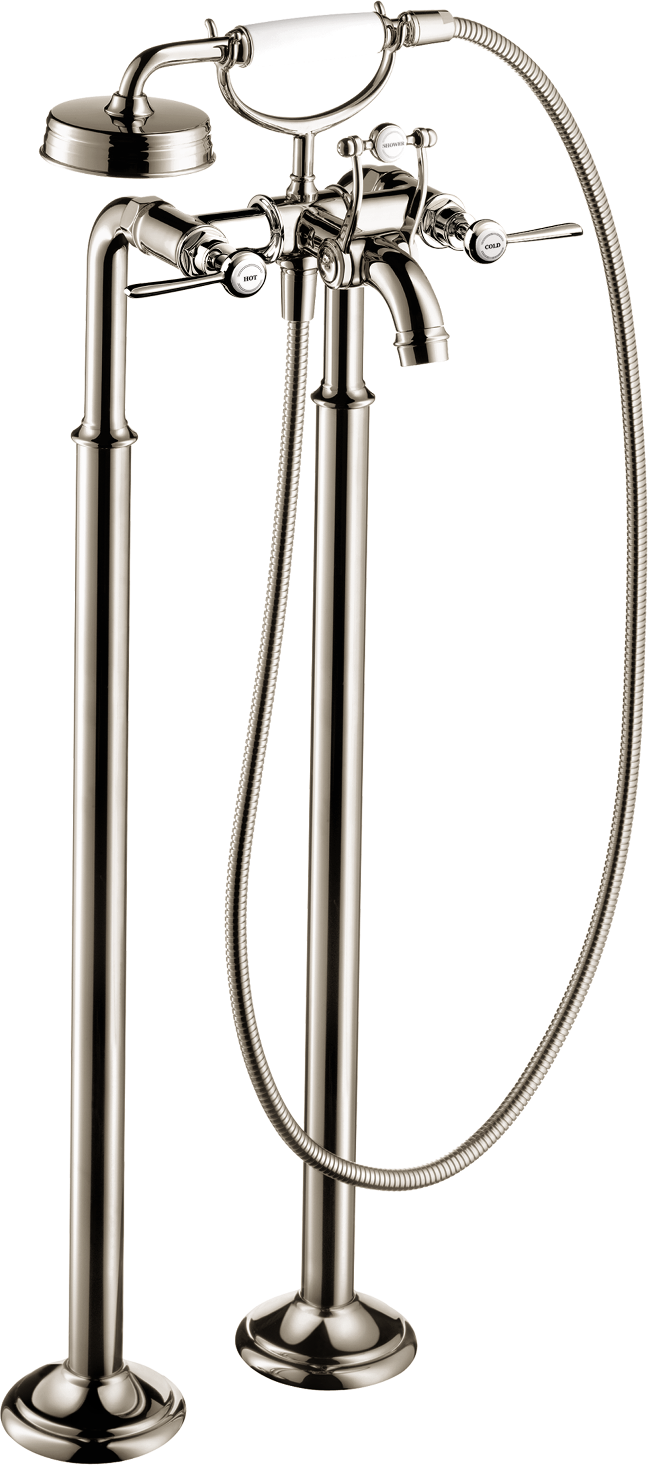 Axor AXOR Montreux Freestanding 2-Handle Tub Filler Trim with Lever Handles with 2.0 GPM Handshower