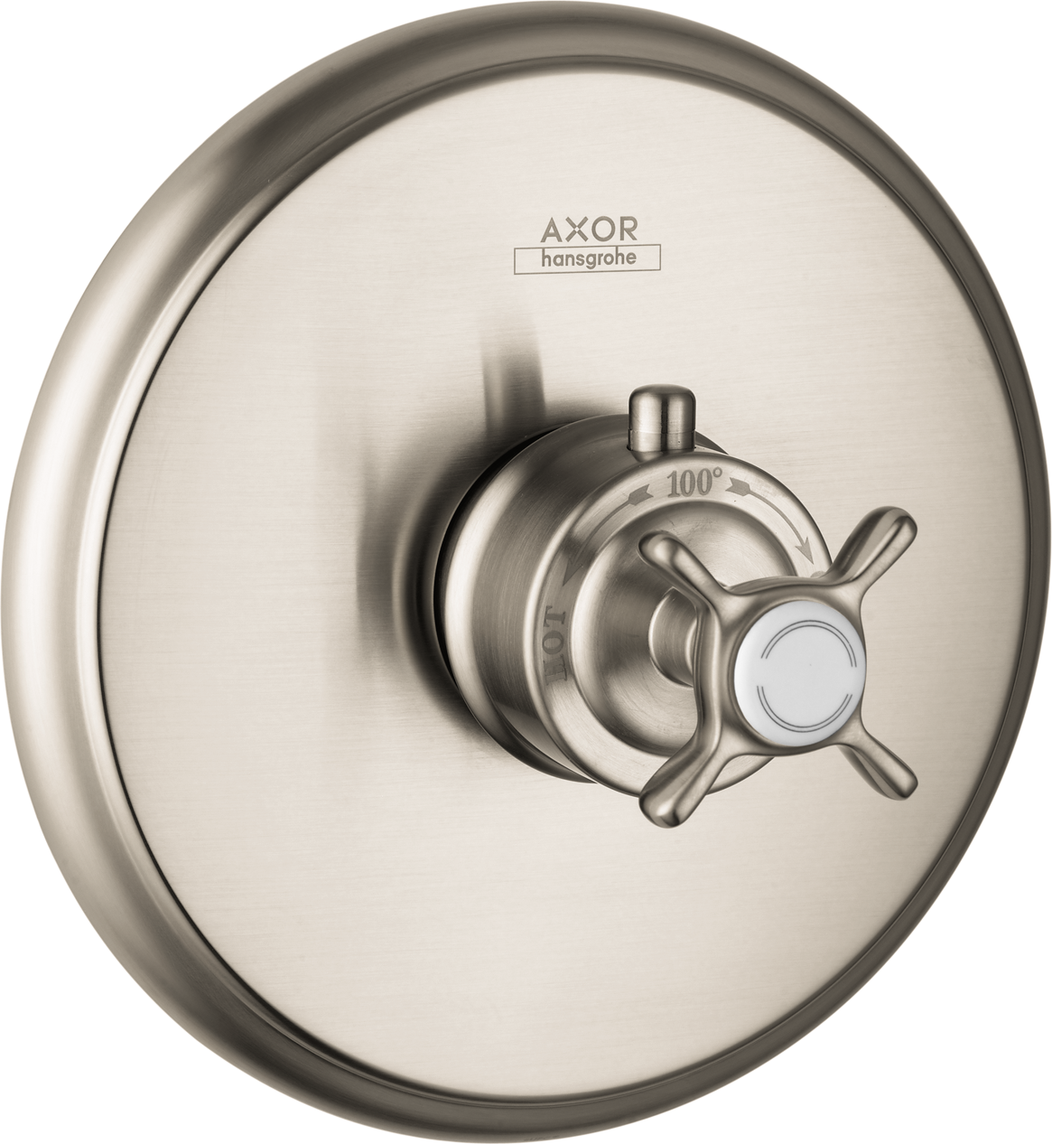 Axor AXOR Montreux Thermostatic Trim with Cross Handle, Highflow