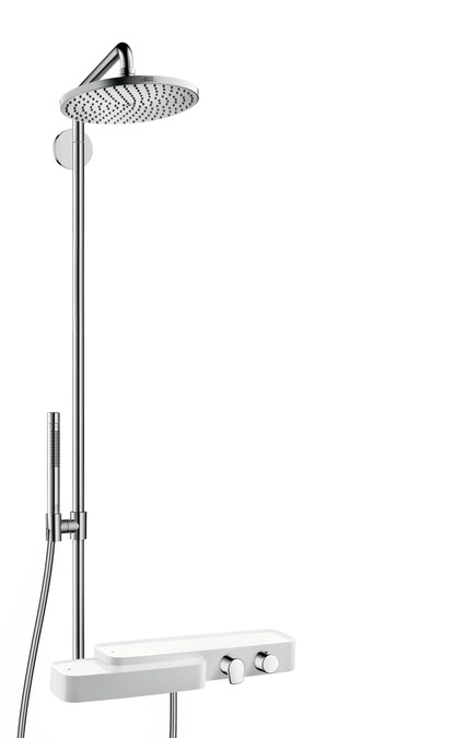 Axor Axor Bouroullec Thermostatic Showerpipe with Shelf and Handshower