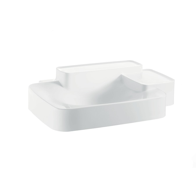 Axor Axor Bouroullec Wall-Mounted Washbasin with Two Shelves, Small