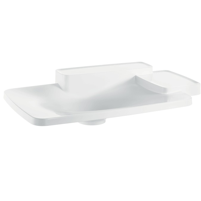 Axor Axor Bouroullec Drop-In Washbasin with Two Shelves, Large