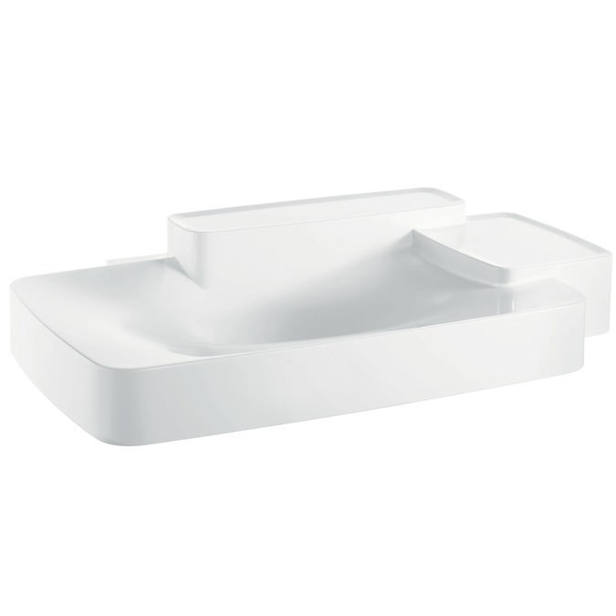 Axor Axor Bouroullec Wall-Mounted Washbasin with Two Shelves, Large