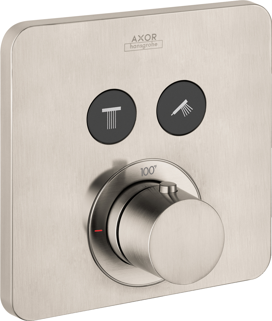 Axor AXOR ShowerSelect SoftCube Thermostatic 2-Function Trim