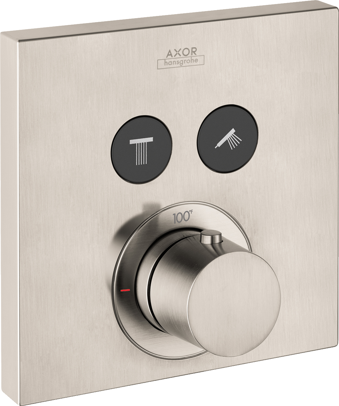 Axor AXOR ShowerSelect Square Thermostatic 2-Function Trim
