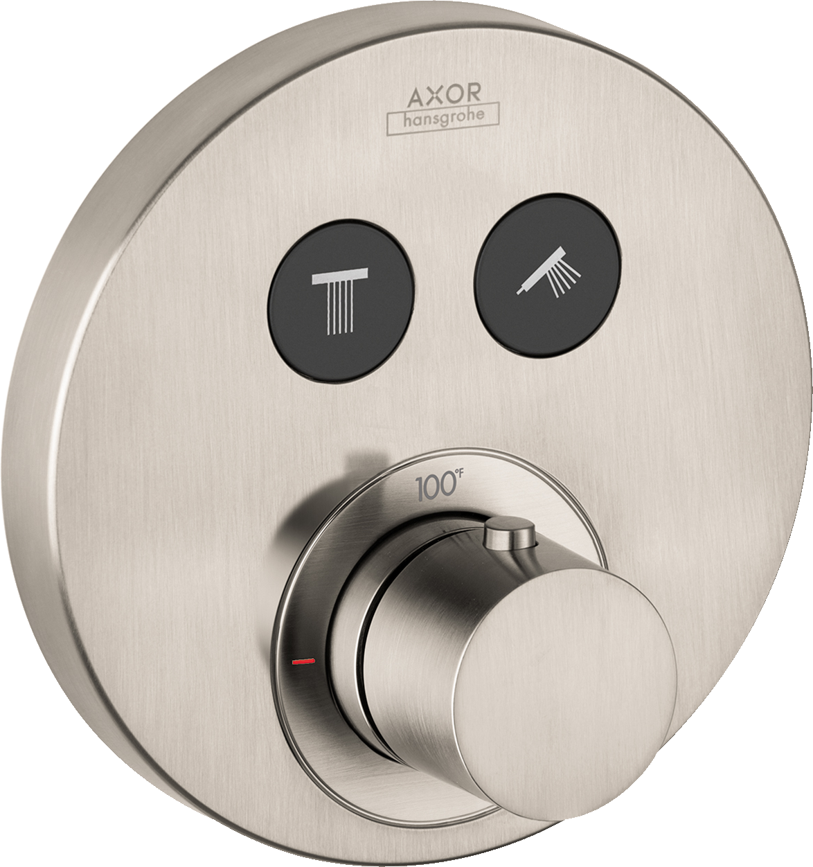 Axor AXOR ShowerSelect Round Thermostatic 2-Function Trim