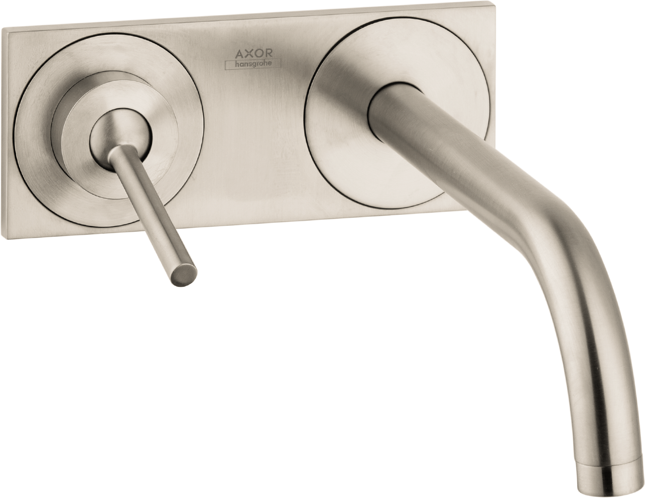 Axor AXOR Uno Wall-Mounted Single-Handle Faucet Trim with Base Plate, 1.2 GPM