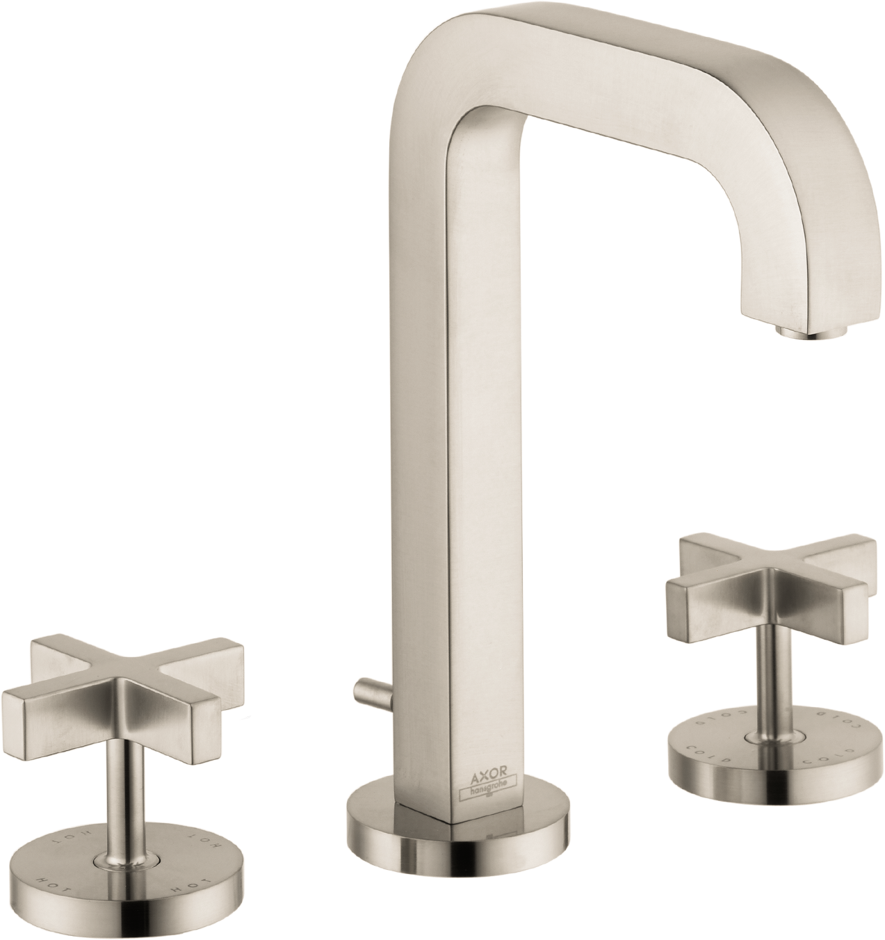 Axor AXOR Citterio Widespread Faucet with Cross Handles, 1.2 GPM