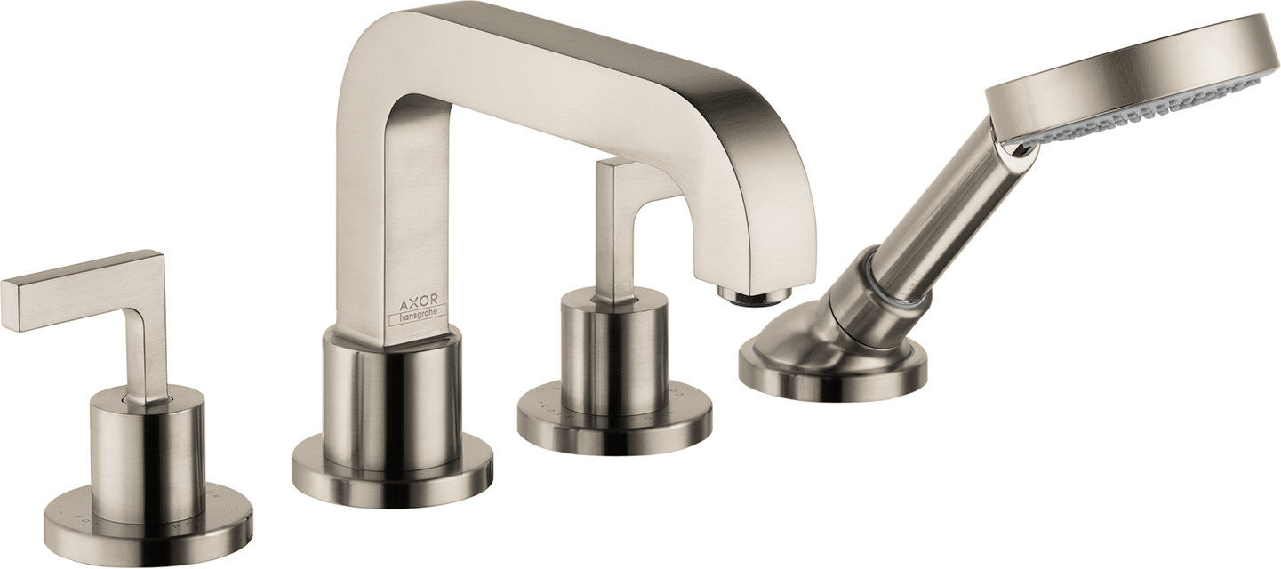 Axor AXOR Citterio 4-Hole Roman Tub Set Trim with Lever Handles with 2.0 GPM Handshower