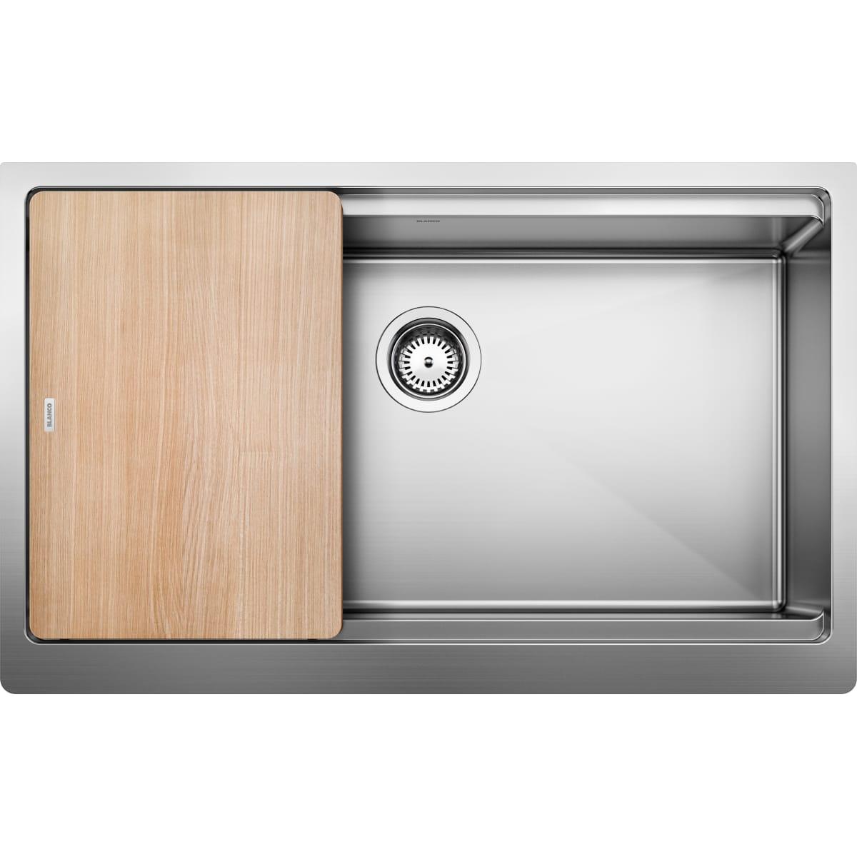 "Blanco Quatrus 33"" Farmhouse Single Basin Stainless Steel Kitchen Sink"