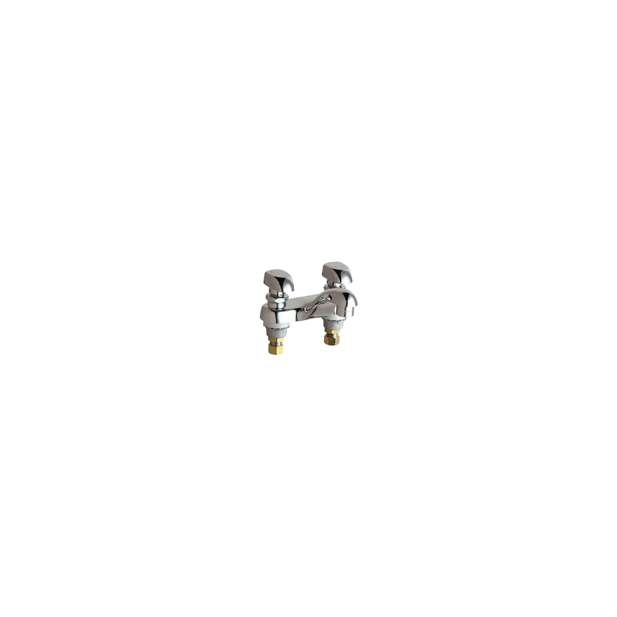 "Chicago Faucets Centerset Bathroom Faucet with 4"" Faucet Centers and Lever Handles"