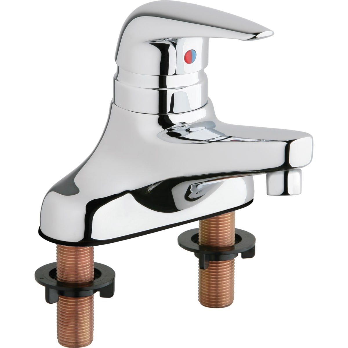 "Chicago Faucets Centerset Bathroom Faucet with 4"" Faucet Centers and Lever Handle"