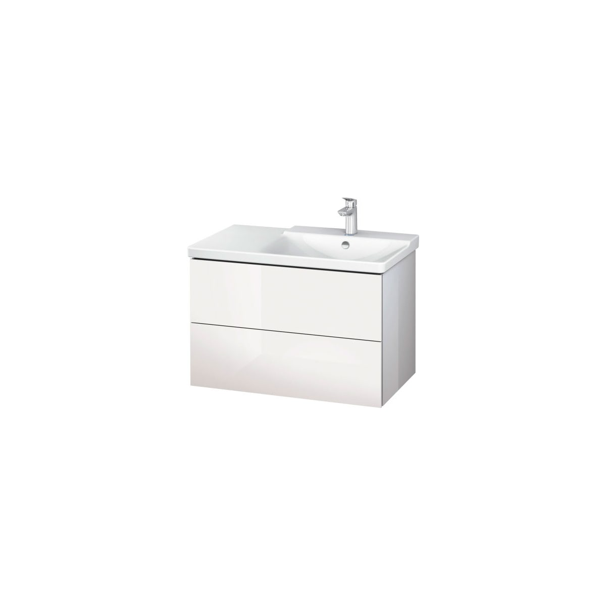 "Duravit L-Cube 32-1/4"" Single Wall Mounted / Floating Vanity Cabinet Only – Less Vanity Top"