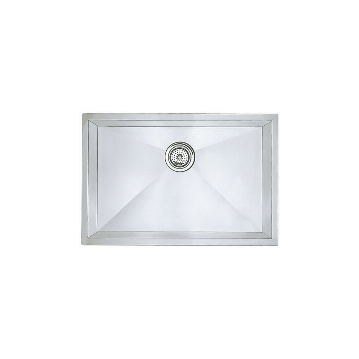 "Blanco Precision Single Basin Undermount Stainless Steel Kitchen Sink with Zero Radius Corners 25"" x 18"""