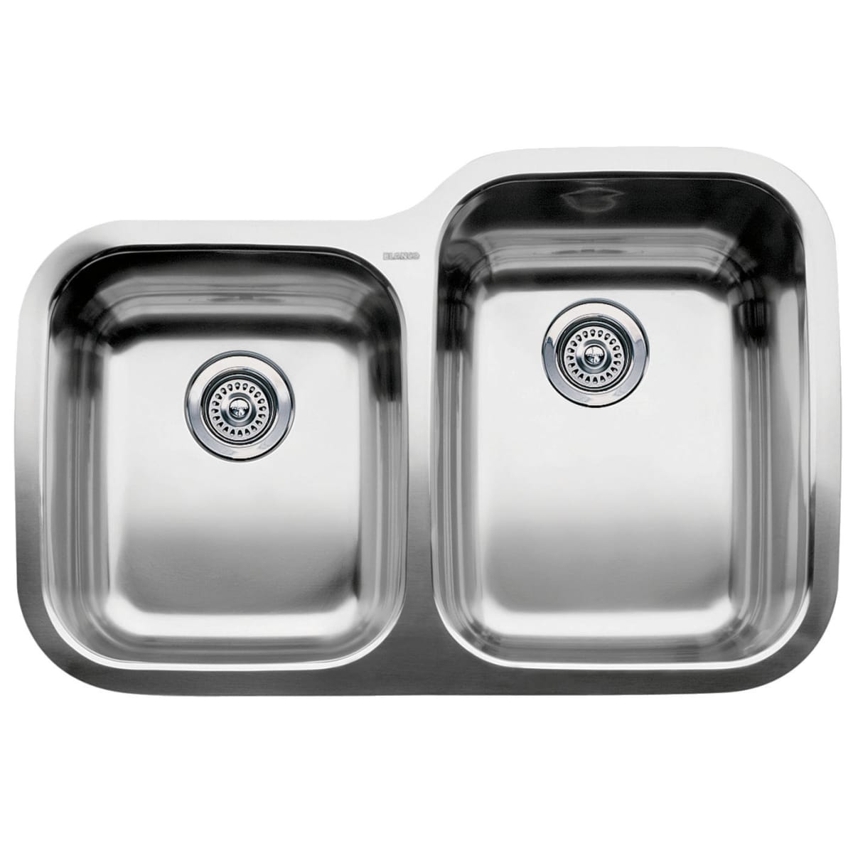 "Blanco Supreme 31-5/16"" Undermount Double Basin Stainless Steel Kitchen Sink"