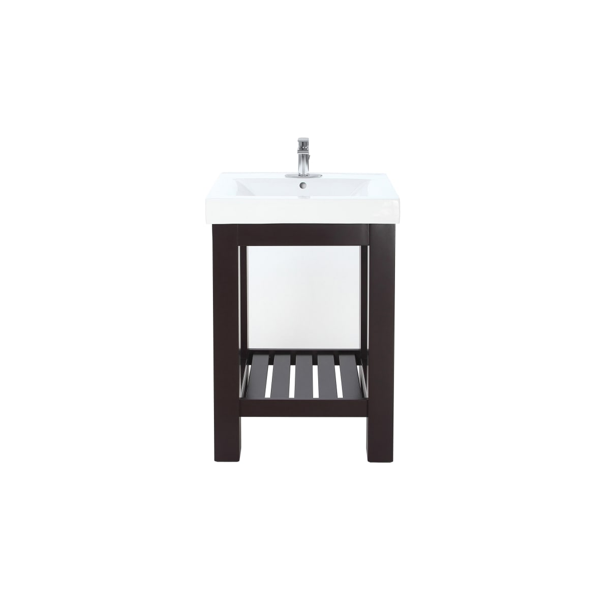 "Jacuzzi Razzo 24"" Free Standing Single Basin Vanity Set with Wood Cabinet, and Vitreous China Sink - Less Faucet"