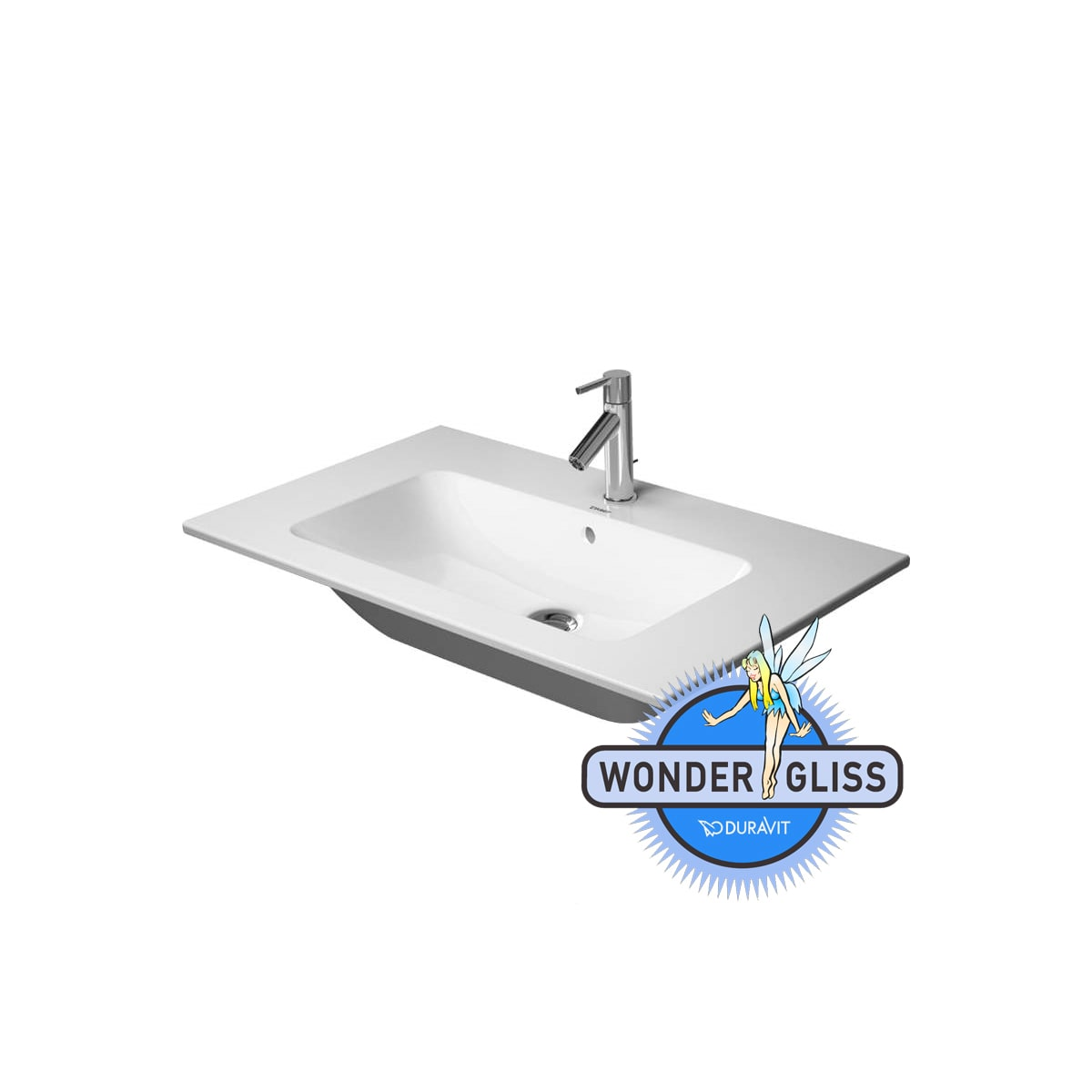 Duravit 23274800001 Starck 2 Ceramic 18 7 8 Drop In Bathroom Sink With Single Faucet Hole And Overflow 23274800001 Snyder Diamond