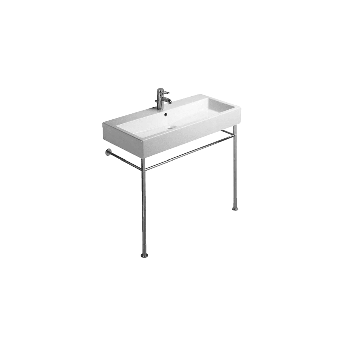 Duravit Adjustable Metal Lavatory Console Only for 045410 from Vero Series
