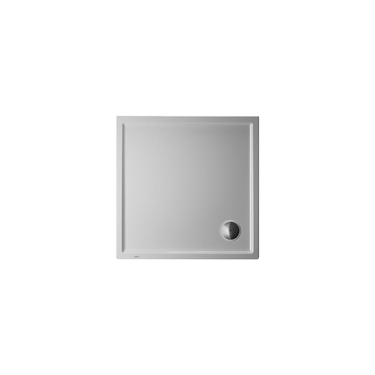 "Duravit Starck 39-3/8"" x 39-3/8"" Shower Base with Single Threshold and 3-1/2"" Corner Drain"
