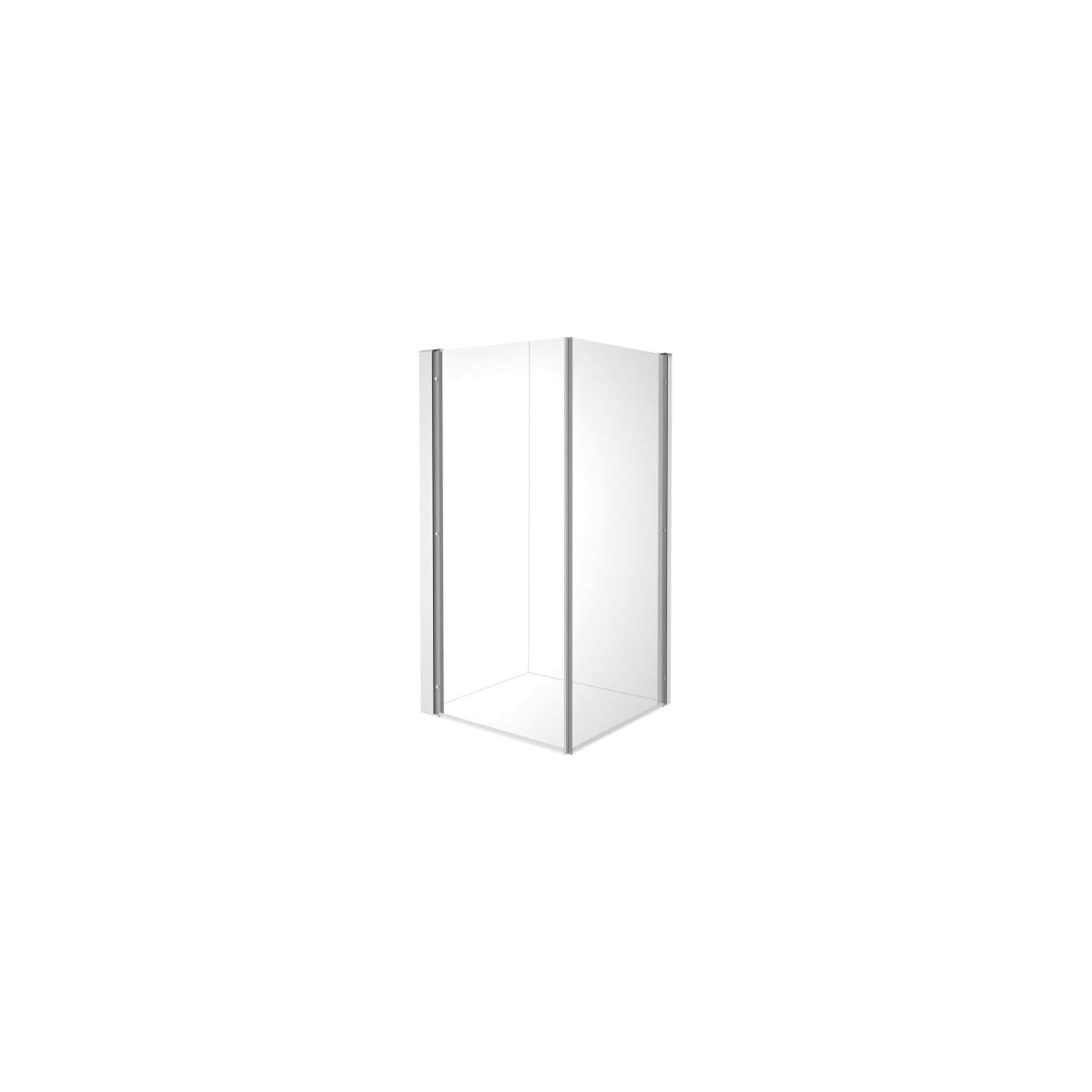 """Duravit OpenSpace B 77-1/2"""" High x 30-1/2"""" Wide x 28-1/2"""" Deep Hinged Frame Shower Enclosure with 2 Glass Panels"""