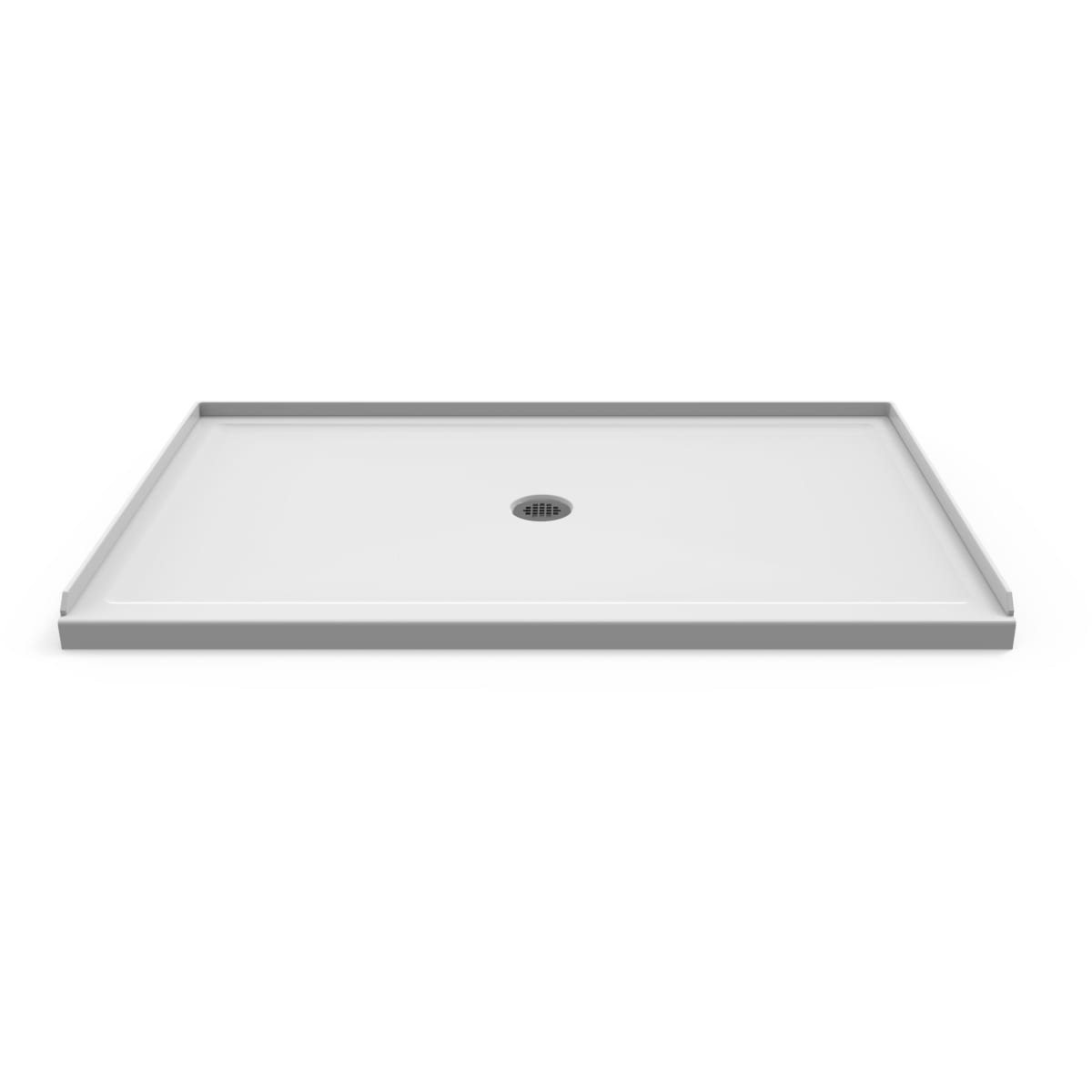 """Jacuzzi Catalina 60"""" W x 36"""" D Shower Base with Single Threshold and Center Drain"""