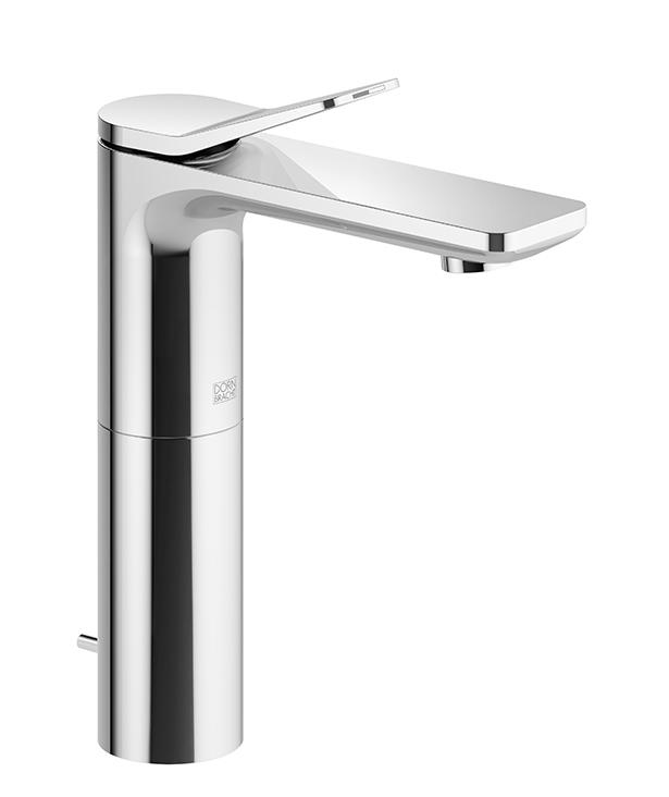 DornBracht Single-lever lavatory mixer with raised spout with drain - platinum matte