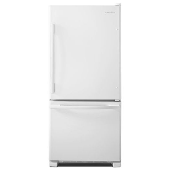 Amana Bottom Freezer White Package