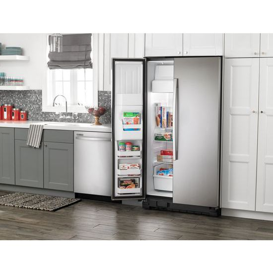 Model: 4ASI2575FRSWEB | Amana Side-by-Side Refrigerator with Dairy Center