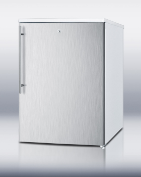 SUMMIT FSM50LESSSSHV is an ideally sized counter height all-freezer designed for household use.