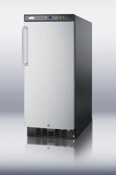 SUMMIT SCR1536SSTB is a slim-fitting beverage cooler designed for elegant storage under any residential counter.